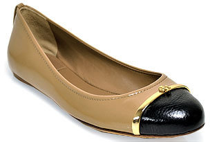 Tory Burch Pacey - Sand Patent Leather Ballet Flat