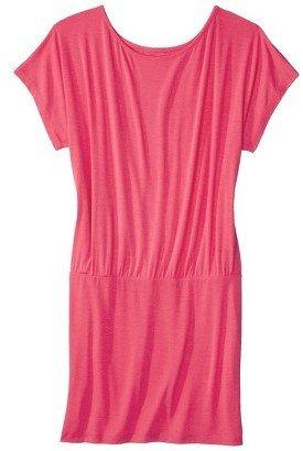 Junior's Plus Size Short Sleeve Knit Dress