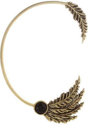 Pamela Love Feather gold-tone onyx ear cuff