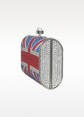 Julia Cocco' Union Jack Flag Crystal Jeweled Clutch