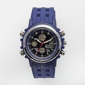 Tocs silver tone analog and digital chronograph watch - women