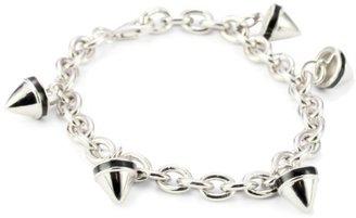 Hilton Nicky Sterling Silver Spike Charm Bracelet with Black Enamel