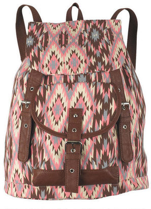 Delia's Amici Brown/Pink Combo Backpack