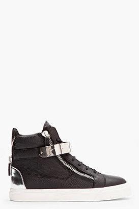 Giuseppe Zanotti black leather London sneakers