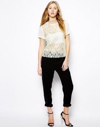 Jovonnista Nina Lace Top with Neon Highlights
