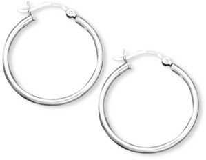 Giani Bernini Small Sterling Silver Click Top Hoop Earrings, 1""