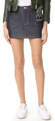 A.P.C. Denim Miniskirt $115 thestylecure.com