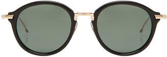 Thom Browne Round Sunglasses in Black & Gold