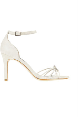 Ann Taylor Jewel Sunburst Suede Sandals