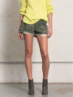 Rag and Bone RAG & BONE Mila Distressed Shorts In Camo