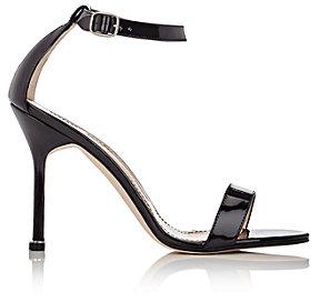 Manolo Blahnik Women's Chaos Ankle-Strap Sandals-BLACK, BLUE
