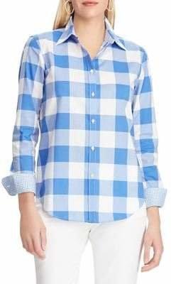 Chaps Buffalo Plaid Cotton Button-Down Shirt