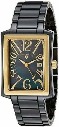 Swiss Legend Women's 10034-BKBGA Bella Black Mother-Of-Pearl Dial Black High Tech Ceramic Watch