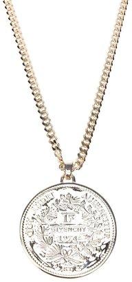 Givenchy medallion pendant necklace