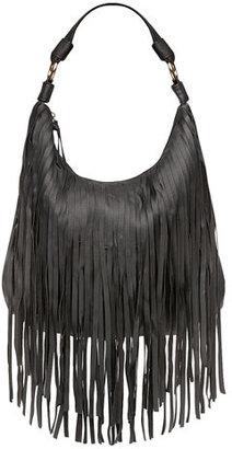 Dorothy Perkins Kardashian Kollection black fringe slouch