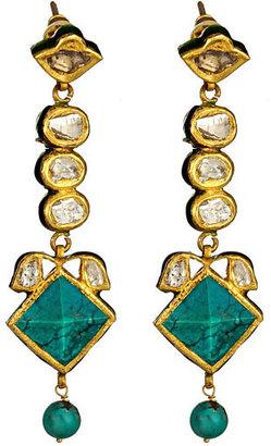 Di Shana Turquoise Pyramid Drop Earrings