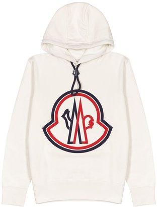 Moncler Off-white Logo-embroidered Cotton Sweatshirt
