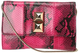 Juicy Couture Frieda Evening Bag (Hot Pink Snake) - Bags and Luggage