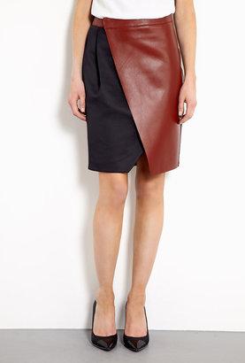 Sportmax Tappeto Leather Wrap Skirt
