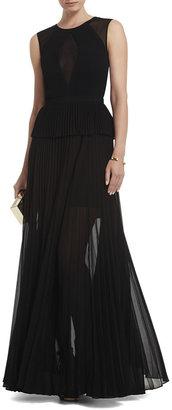 BCBGMAXAZRIA Karolina Sleeveless Pleated Gown