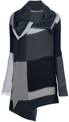 Rick Owens geometric print cardigan