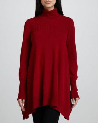 Donna Karan Long-Sleeve Turtleneck Tunic