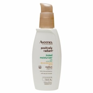 Aveeno Active Naturals Positively Radiant Tinted Moisturizer, Medium Sheer Tint