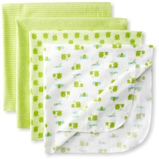 Gerber Unisex-Baby Newborn 4 Pack Flannel Receiving Blanket