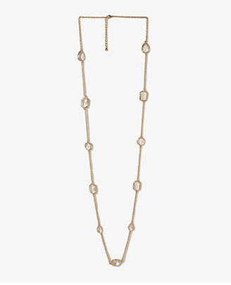 Forever 21 Colored Rhinestone Chain Necklace