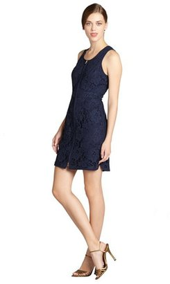 Ali Ro midnight lace shell zip front dress