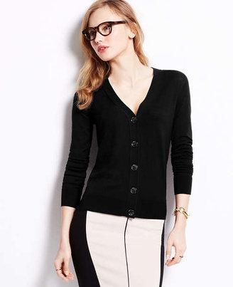 Ann Taylor Tall Silk Cotton Cardigan