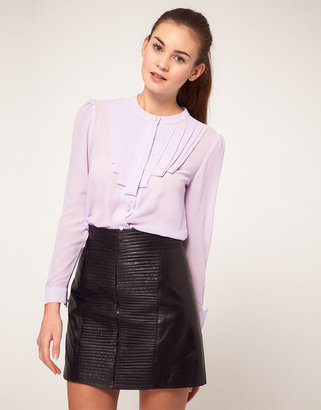 Max C London Blouse With Pleat Detail
