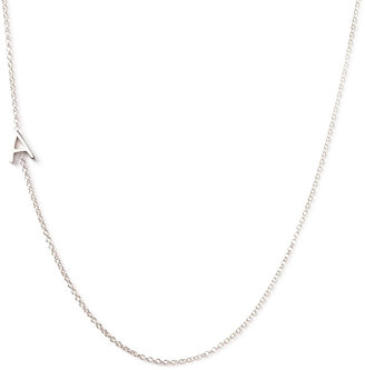 Maya Brenner Designs 14k White Gold Mini Letter Necklace