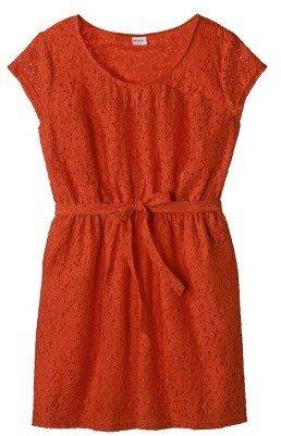 Merona Women's Plus Size Short Sleeve Lace Overlay Dress