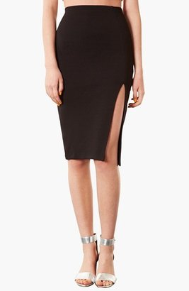 Topshop Textured Pencil Skirt