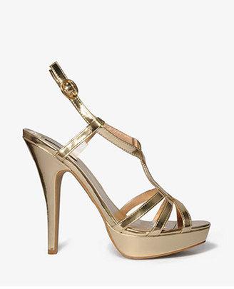 Forever 21 Strappy Platform Sandals