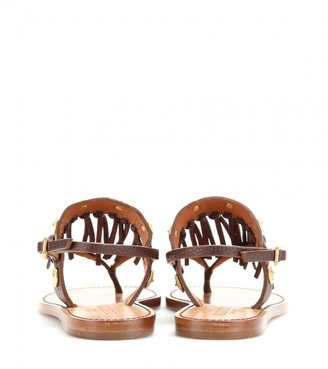 Valentino C-Rockee fringed leather sandals