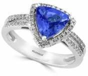 Effy 14K White Gold, Tanzanite 0.21 TCW Diamond Ring