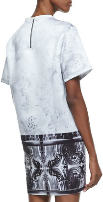 Faith Connexion Tiger-Print T-Shirtdress, White/Black