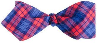 J.Crew Tartan cotton bow tie in poppy and blue