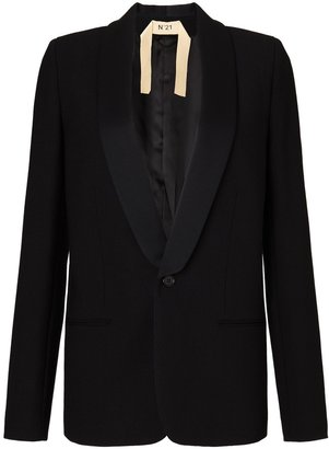 No.21 Black Wool Tuxedo Jacket