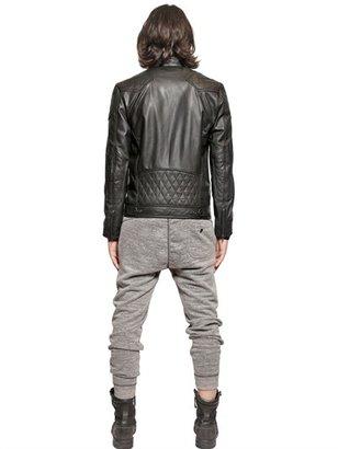 Diesel Washed Leather Biker Jacket