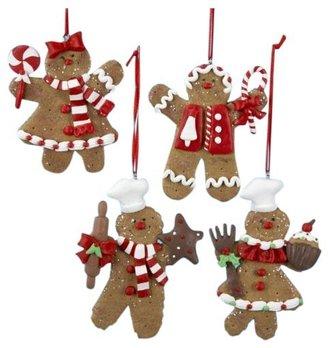 "Kurt Adler [h1 Claydough Gingerbread Ornament 4"" (Set of 4)[/h1]"