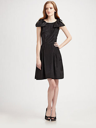 Lotusgrace Moire Faille Double Bow Dress
