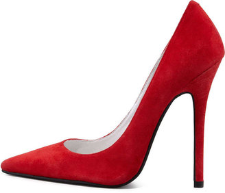 Jeffrey Campbell Darling Suede Point-Toe Pump, Red