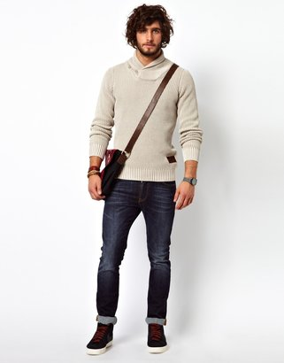 G Star Knit Sweater Wise Shawl Collar