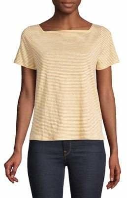 Eileen Fisher Striped Short Sleeve Shirt