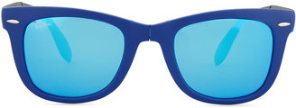 Ray-Ban Folding Wayfarer Sunglasses, Navy