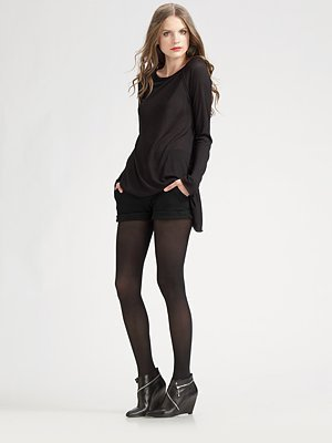 Alice + Olivia Cady Leather Cuff Shorts