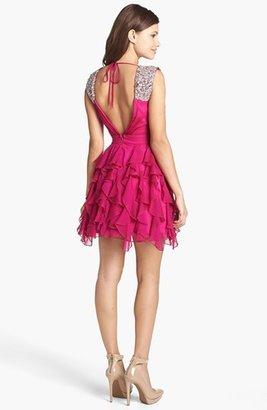 As U Wish Ruffled Chiffon Skater Dress (Juniors) (Online Only)